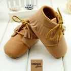 Baby Moccasins Soft Pram Cot Suede Brown and Pink Shoes by Moshi Babies