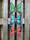 Fair Trade Hand Carved Made Wooden Wood Insect Butterfly Shapes Wall Art Plaque