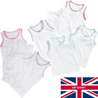 Younger Girls Just Essentials 3 Pack Cotton Vests Back To School White 2-10 yrs