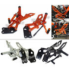 CNC Adjustable Rearsets Footrests Foot Pegs Kit Fit 2014-2017 KTM RC 125 200 390