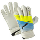 PUMA Youth evoPOWER Protect 3.3 Goalkeeper Gloves Wht/Atomic Bl/Yllw 041221 01