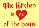 """Custom Expressions """"The Kitchen is the""""  Wall Art © various decal sticker"""