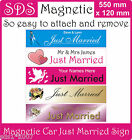 JUST MARRIED NUMBER PLATE PERSONALISED WEDDING CAR SIGN magnetic or signboard