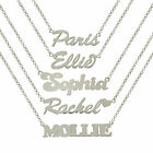 STERLING SILVER NAME CHAIN PERSONALISED WE MAKE ANY NAME BELCHER NECKLACE BOXED