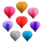 Paper Hanging Honeycomb Heart Wedding Baby Shower Birthday Garland Party
