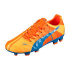 Puma Jr EvoPower 3 H2H FG Orange Clown Fish/Electric Blue Lemonade 103723 01