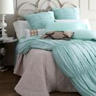 Solid Quilt/Doona/Duvet Cover Set New Cotton Silk QUEEN KING Size Bedding Set
