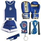 Junior Boxing Uniform age 3-14 years Boxing Gloves 4/6 OZ Boxing Wrap 1006 Blue