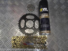 LEXMOTO ZSX 125 ZS125-48A JT GOLD CHAIN AND SPROCKET S KIT STANDARD REPLACEMENT
