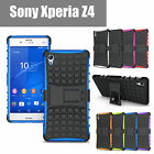 Case For SONY Xperia Z4 TPU Cover  Shockproof Heavy Duty With Kickstand