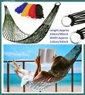 Nylon Mesh Rope Net Hammock,Portable Garden Outdoor Camping Travel Swing Bed,1p