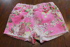 1445 Boutique Very Pretty Pink Floral Denim Hot Shorts Stretchable Chic