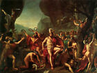 Leonidas at Thermopylae - classic Neoclassical painting by Jacques Louis David