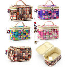 Makeup Cosmetic Case Bag Faux Leather Pouch Toiletry Organizer Storage Handbag