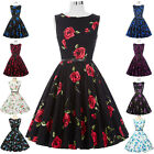 Retro Vintage Style 50s 60s Swing Housewife Cocktail Party Prom Tea Skater Dress