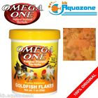 OMEGA ONE * GOLDFISH FLAKES 28g or 62g 148g tube Fish food tropical omegaone