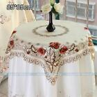 Square Peony Embroidered Cutwork Tablecloth TableTopper Nice Cover Muti-Size#229