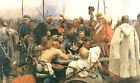 Classic Russian Historical Art Print: Reply of the Cossacks by Ilya Repin, 1891