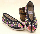 Lady Casual Style Embroidery Melaleuca Flat Oxfords Driving Pregnant Cloth Shoes