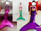 2016 Kids Girls Mermaid Tail Swimmable Costume with Monofin Swimsuit 3pcs Set
