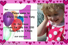 Childrens Girls Photo 1st 2nd 3rd Any Age Birthday Party Invites Invitations