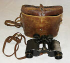 Vintage Ww2 Binoculars Made In France French Damaged Leather Case Original Cond