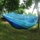 Single Person Parachute Fabric Mosquito Net Hammock+Rope for Travel Outdoor