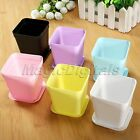 1/5Pcs Mini Plastic Flower Pot Square Plastic Planter Nursery Garden Home Decor
