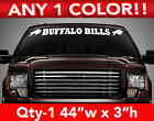 "BUFFALO BILLS WINDSHIELD DECAL STICKER 44""w x 3""h ANY 1 COLOR $12.99 USD on eBay"