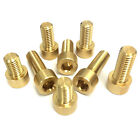 Metric Socket Cap Head Screws - Brass M8 - British Made Bolts - 8mm Allen Bolt