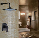 "8 ""ORB LED Light Bathroom Tub Rainfall Shower Faucet  Wall Mounted  Mixer Tap"