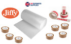 JIFFY Small/Large Bubble Wrap 50m/100m x 300/500/750mm w/ optional packing tape