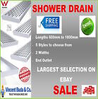 NEW Stainless Steel Linear Shower Drain Grate Waste Tile Insert Heelguard END