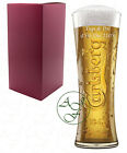 Personalised 1 Pint CARLSBERG Branded Beer Glass Father Groom Wedding Gift