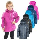 Trespass Packup Boys Girls Waterproof Jacket in Black Purple Blue & Grey