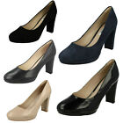Ladies Clarks Kendra Sienna Patent Leather Court Shoes D Fitting