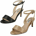 Ladies Clarks Amali Jewel Black Or Champagne Leather Smart Sandals D Fitting