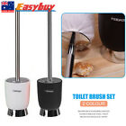 Bathroom Accessories Toilet Brush Holder Groove Clean Stainless Steel Black/Whit