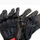 Denium Leather Motorcycle Glove in dark blue for street cruier cafe classic
