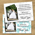 1-100 Personalised Wedding Thank You Cards With Photo - 8 Colour Options (T5P)