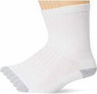 5~100 Dozens Wholesale Lots Men Sports Cotton Crew Socks White/Gray 9-11 10-13