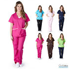 Kyпить Women's Contrast Jersey Medical Hospital Nursing Uniform Scrubs Set Top & Pants на еВаy.соm
