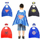 Children Kids Superhero Fancy Dress Costume Cape Mask Super Hero Outfit Dress up