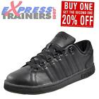 K Swiss Lozan III Mens Classic Casual Leather Retro Trainers All Black