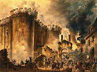 The Storming of the Bastille, Houel, 1789 (Classic French Revolution Art Print)