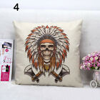 1Pc Square Cartoon Skull Flower Human Skeleton Throw Pillow Cover