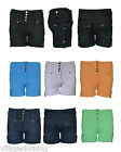 Womens High Rise Button Up Denim Shorts Ladies High Waisted Hot Pants 8 10 12 14