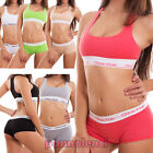 Complete woman lingerie sport french knickers top rower fitness new S7209