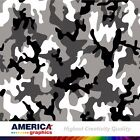 Grey and Black Camouflage Military Graphics Vehicle Decal Vinyl Wrap Pattern