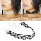 Vintage Lace Heart Crochet Choker Necklace Collar Retro Gothic Charm Jewelry 90s
